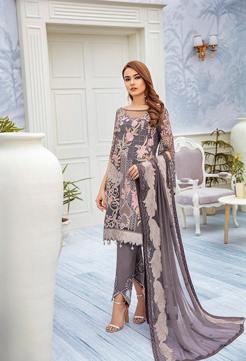 Ramsha Chevron Chiffon Collection Vol 2 2020 – A-209