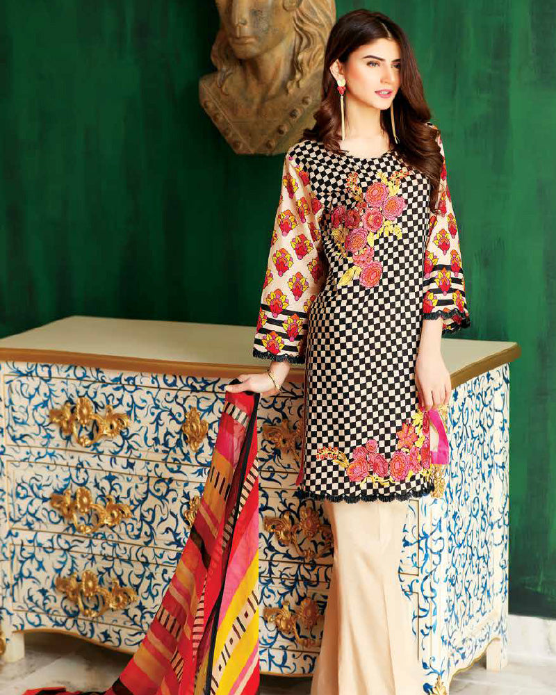 Riaz Arts Spring/Summer Orange Series 2018 Vol-1 – 4A