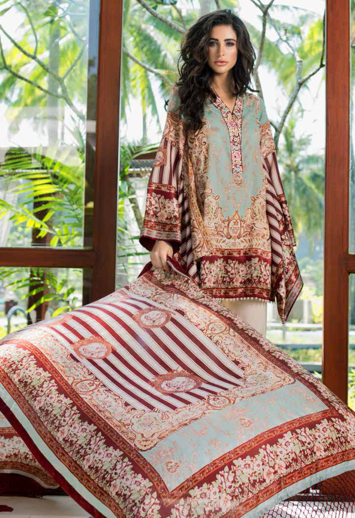 Shehla Chatoor Luxury Lawn Collection SS '16 – 9A - YourLibaas  - 1