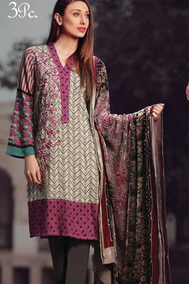 Sana & Samia Embroidered Linen Plachi Collection by Lala – Purple Haze - 9A - YourLibaas  - 1