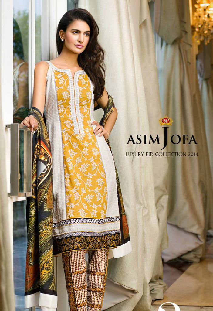 Asim Jofa Luxury Eid Collection '14 - 2A - YourLibaas  - 1