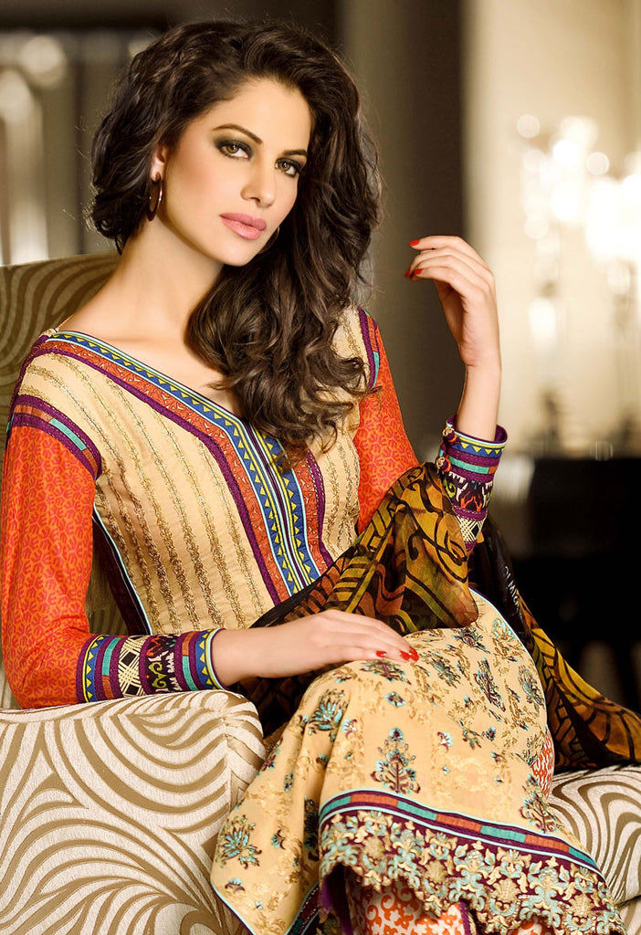 Asim Jofa Luxury Lawn Collection '15 - 10B - YourLibaas  - 1