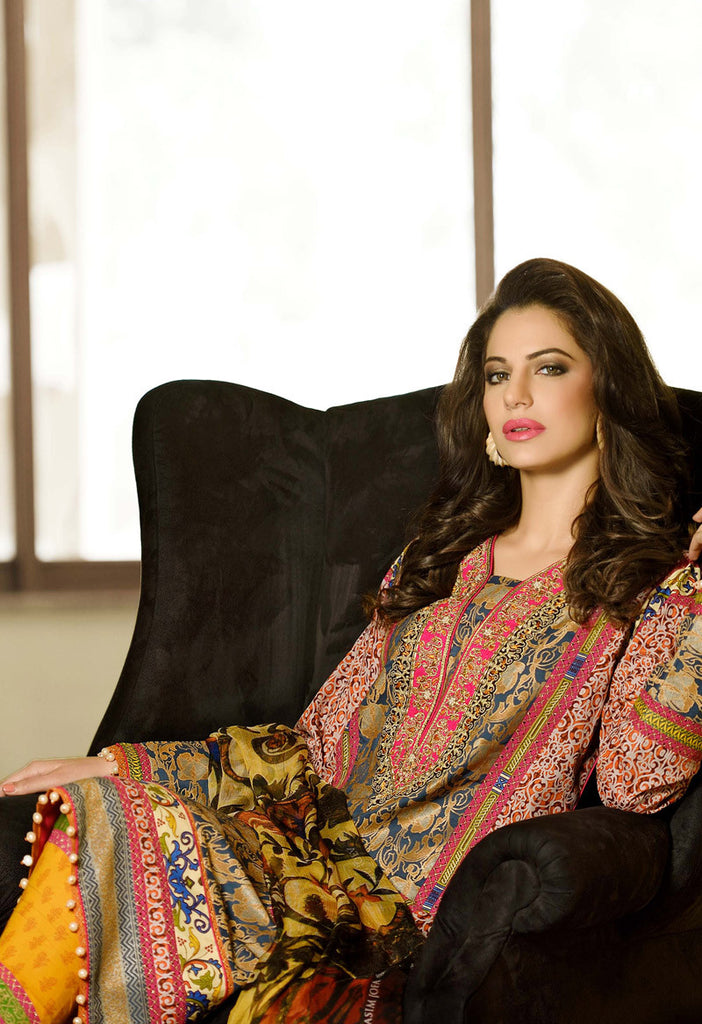 Asim Jofa Luxury Lawn Collection '15 - 11A - YourLibaas  - 1