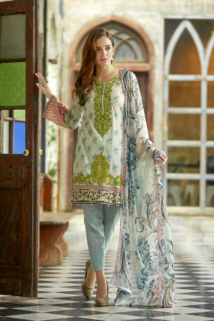 Bashir Ahmad Florence Lawn Collection Vol 1 – FL07A - YourLibaas  - 1