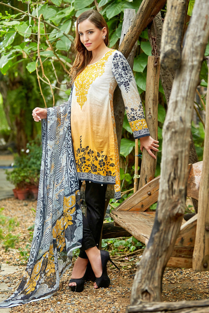 Bashir Ahmad Florence Lawn Collection Vol 1 – FL10A - YourLibaas  - 1