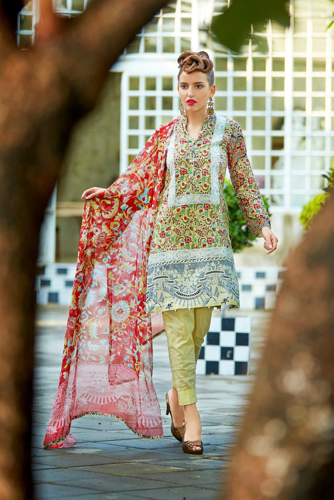 Bashir Ahmad Florence Lawn Collection Vol 1 – FL09A - YourLibaas  - 1