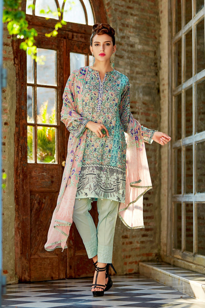 Bashir Ahmad Florence Lawn Collection Vol 1 – FL09B - YourLibaas  - 1
