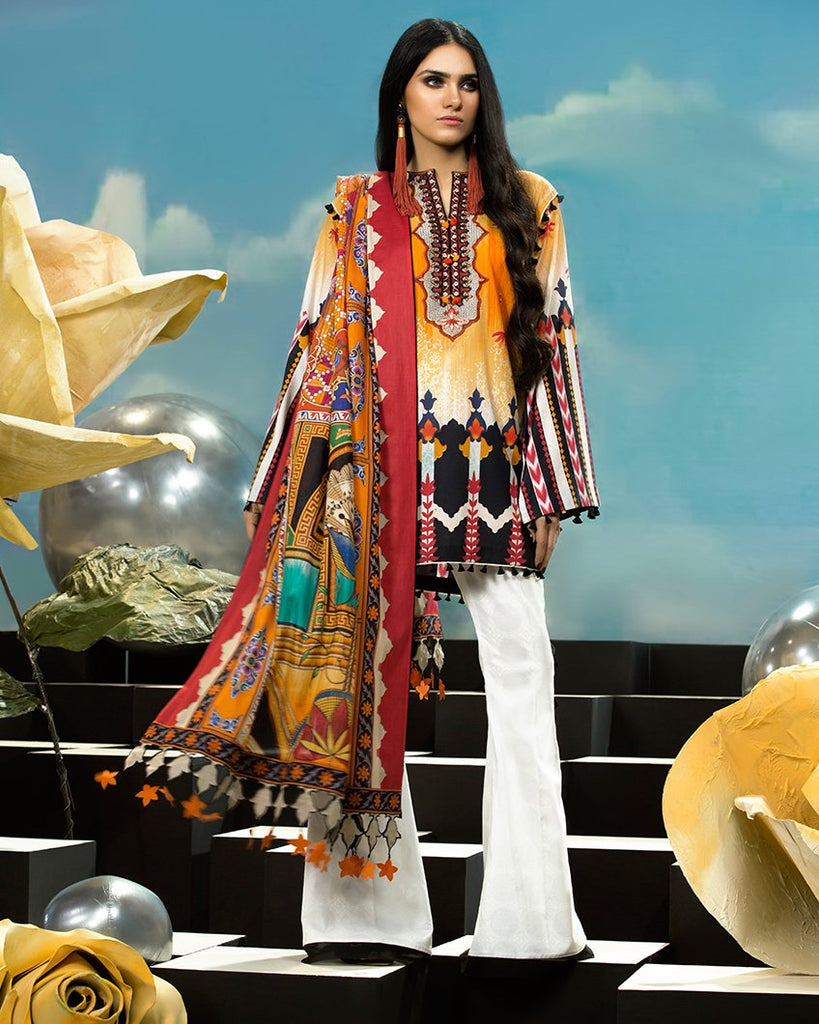 Zaha by Khadijah Shah – 3pc Lawn Collection – Alita (ZL-25A)