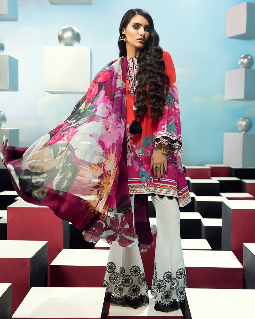 Zaha by Khadijah Shah – 3pc Lawn Collection – Amelie (ZL-16B)