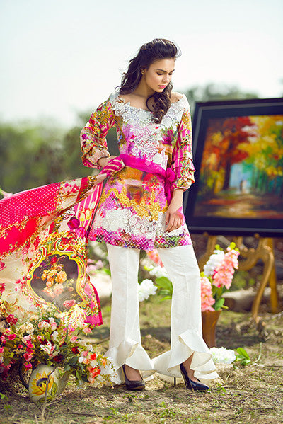 Asifa & Nabeel Lawn Collection 2017 – Out & Loud – 4S