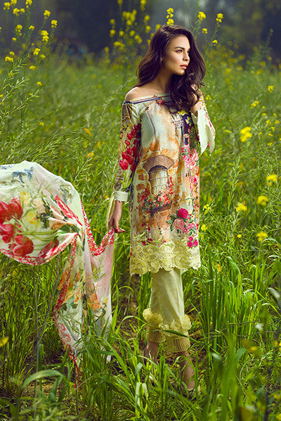 Asifa & Nabeel Lawn Collection 2017 – Bubble Tea – 9G