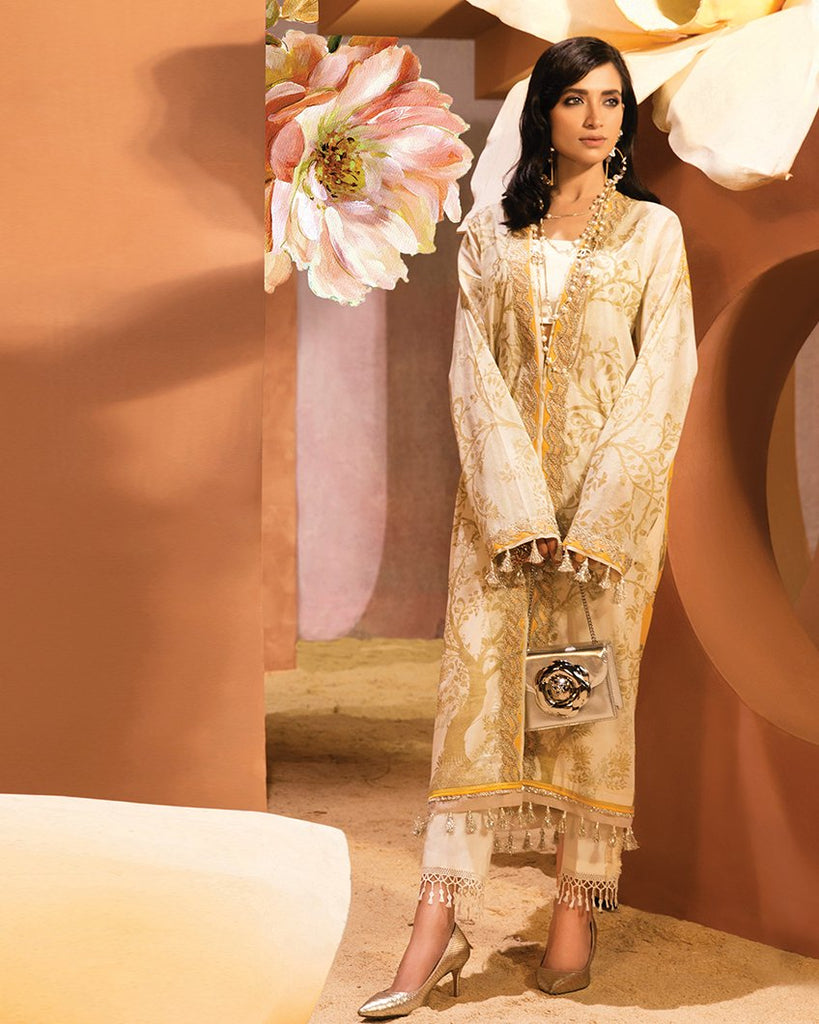 Zaha by Khadijah Shah – 1pc Lawn Collection – Blanche (ZL-05A)