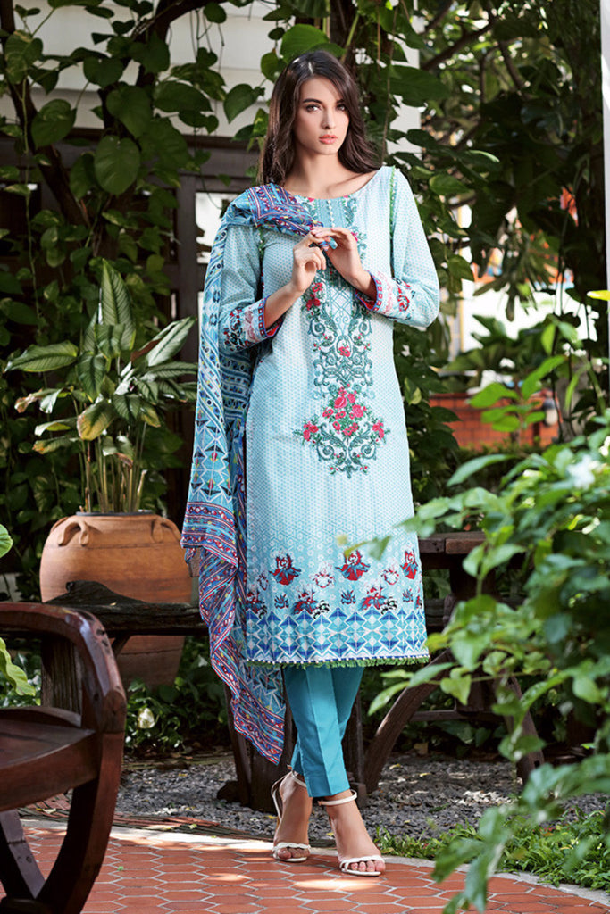 Gul Ahmed Summer 2016 Collection – Ferozi La Chiffon C-319 - YourLibaas  - 1