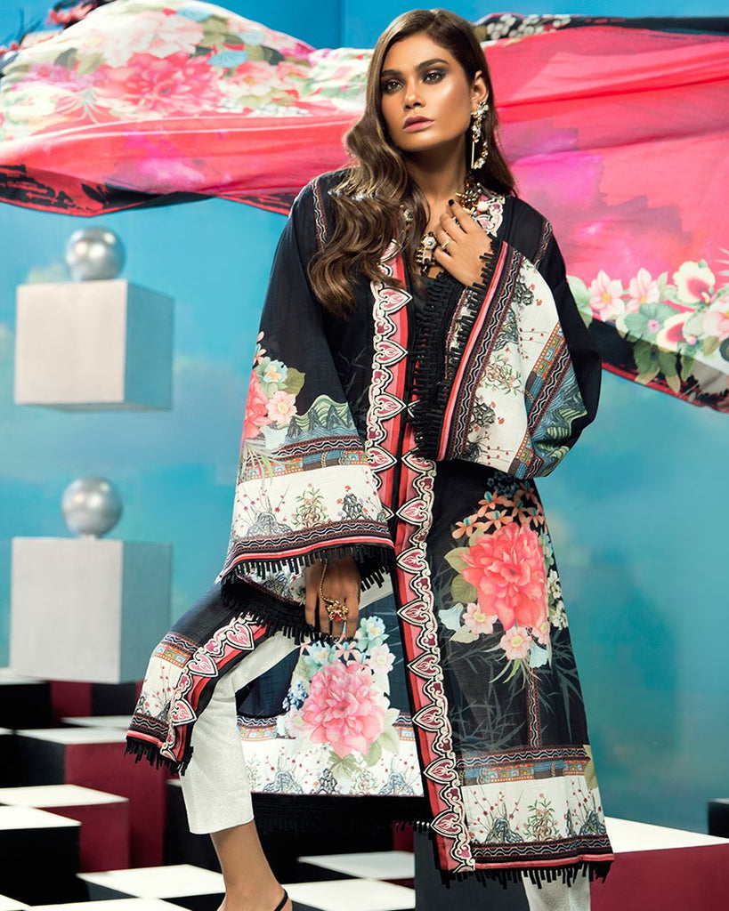 Zaha by Khadijah Shah – 3pc Lawn Collection – Camille  (ZL-20A)