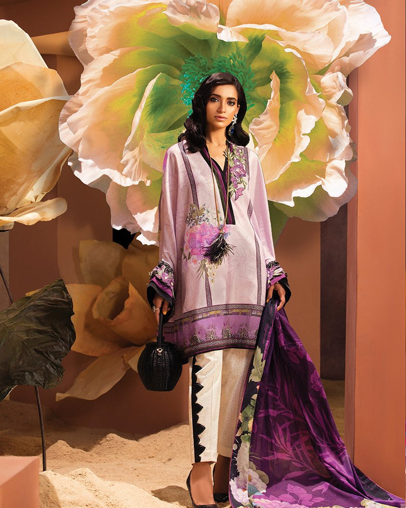 Zaha by Khadijah Shah – 3pc Lawn Collection – Camille (ZL-20B)