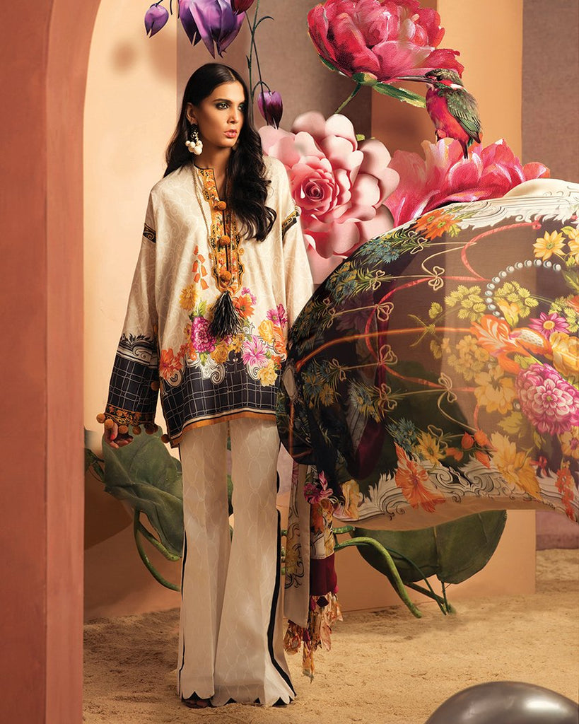 Zaha by Khadijah Shah – 3pc Lawn Collection – Carina (ZL-23A)