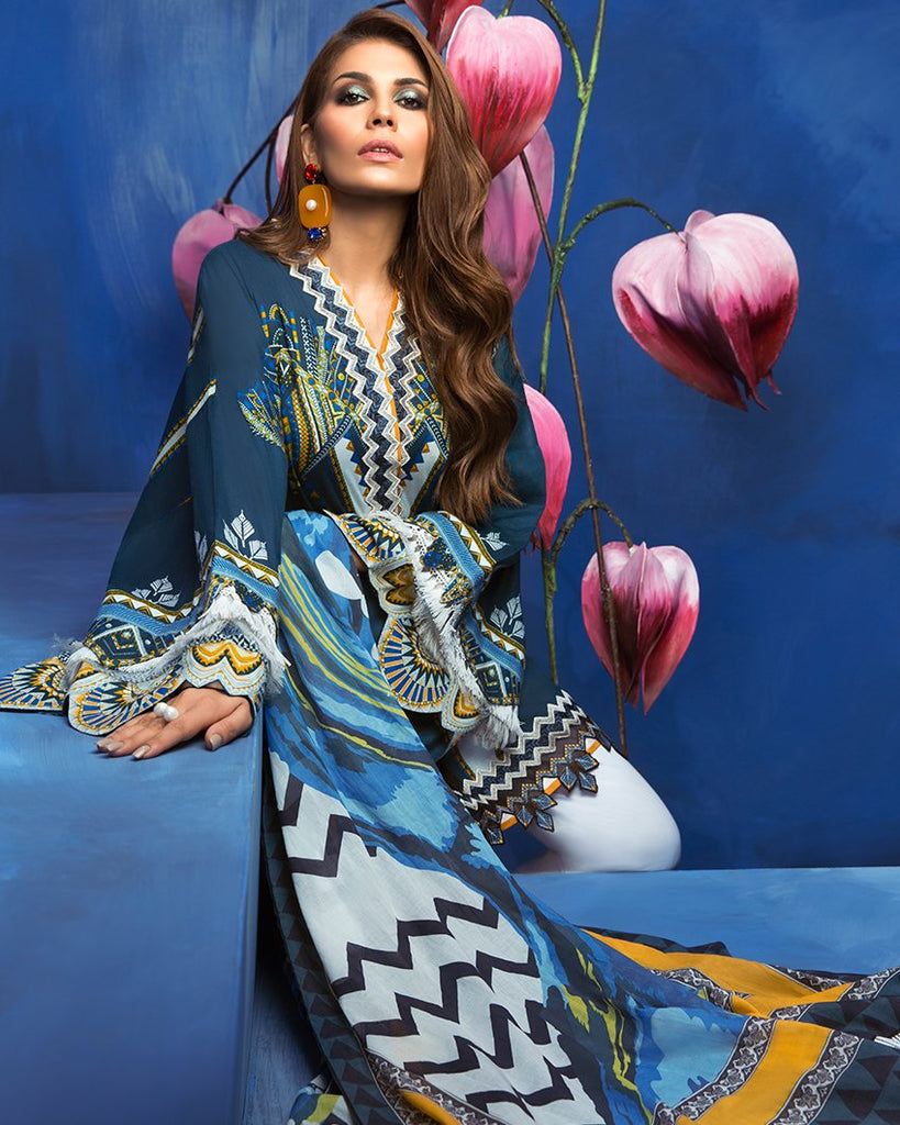 Zaha by Khadijah Shah – 3pc Lawn Collection – Coco (ZL-21B)