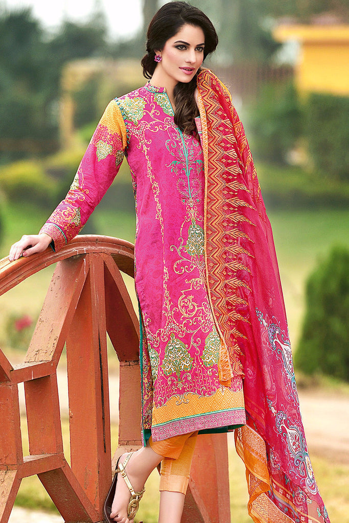 Gul Ahmed Pink Chantilly De Lace CT-165 - YourLibaas  - 1