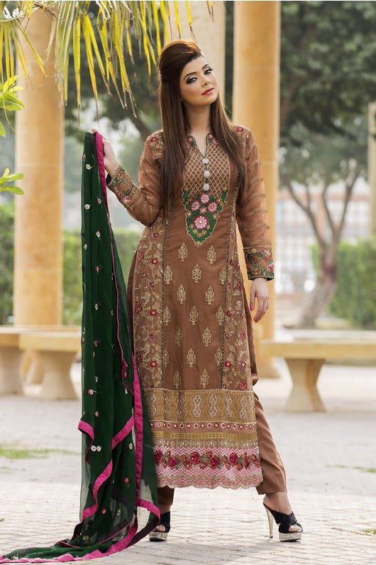 MTF Embroidered Chiffon Collection 2017 – Design 2