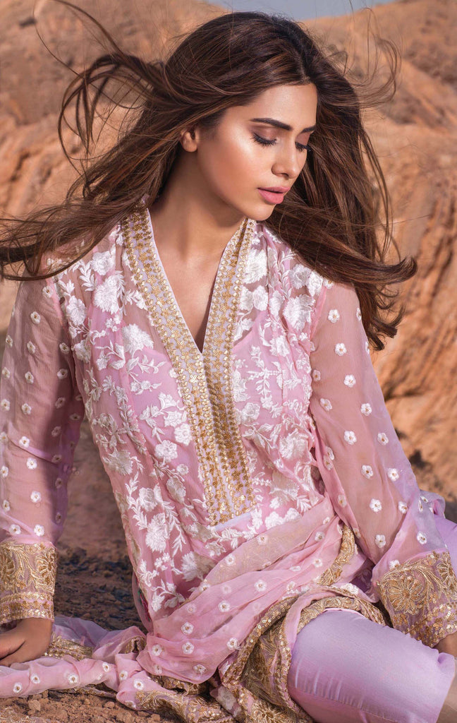 Mina Hasan Embroidered Fabrics Vol 3 – D-2 - YourLibaas  - 1