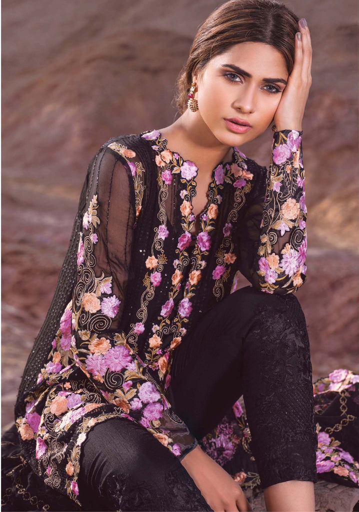 Mina Hasan Embroidered Fabrics Vol 3 – D-6 - YourLibaas  - 1