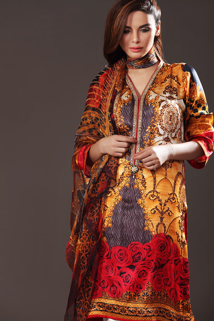 Gul Ahmed Lamis Digital Silk Collection DGS-48 - YourLibaas  - 1