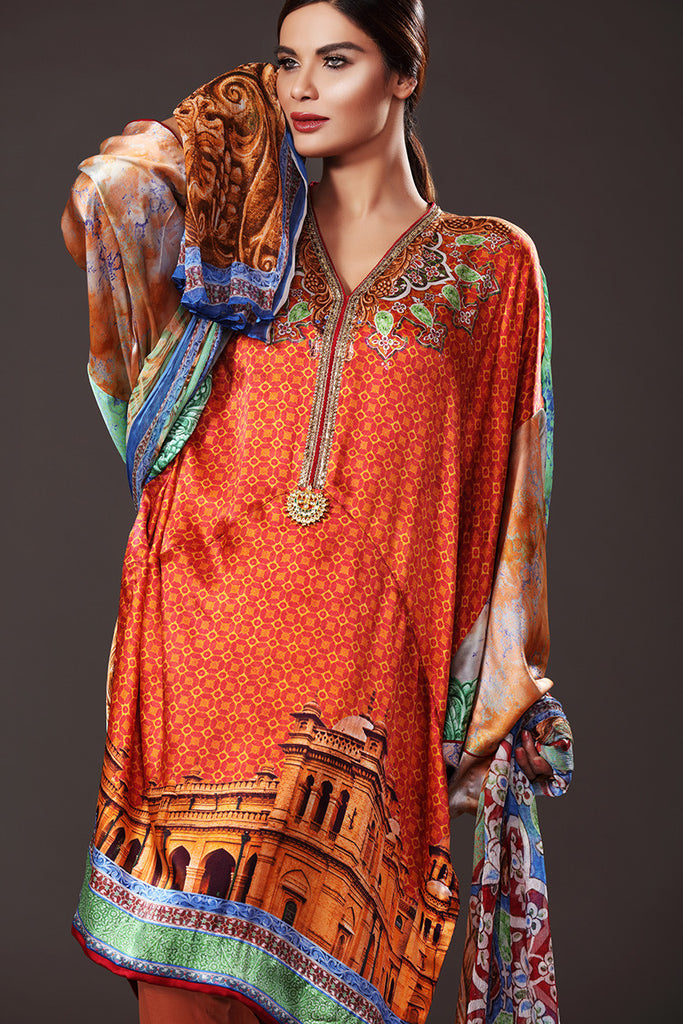 Gul Ahmed Lamis Digital Silk Collection DGS-49 - YourLibaas  - 1