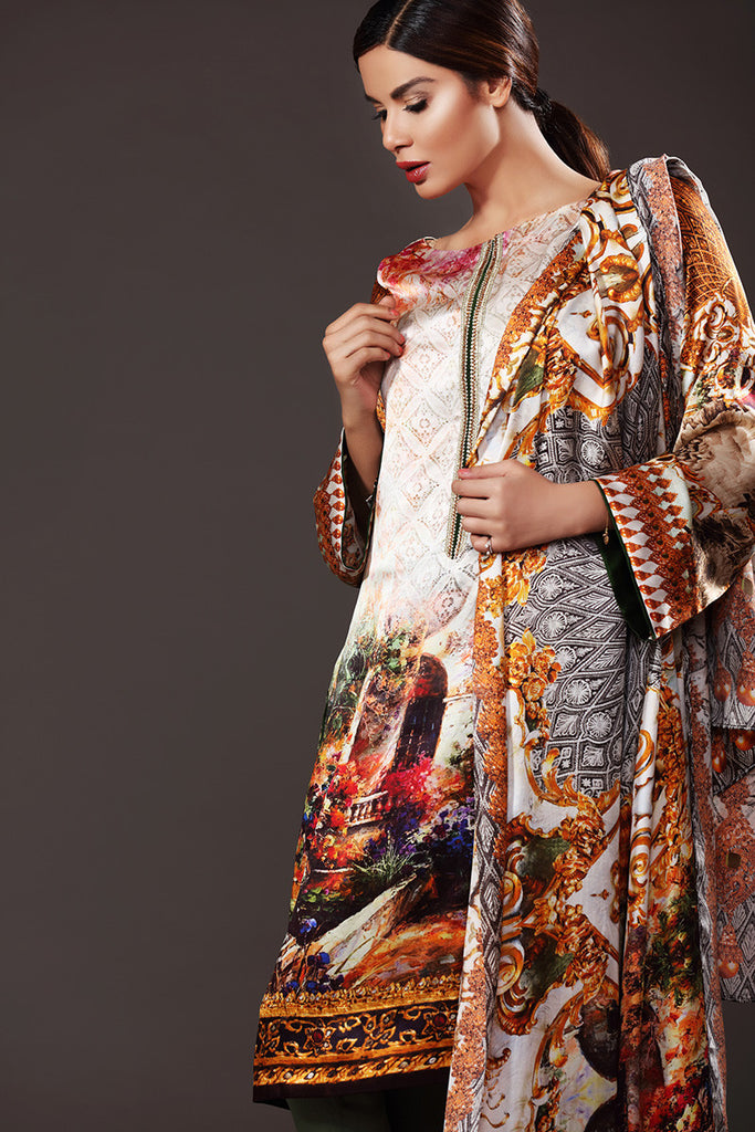 Gul Ahmed Lamis Digital Silk Collection DGS-51 - YourLibaas  - 1