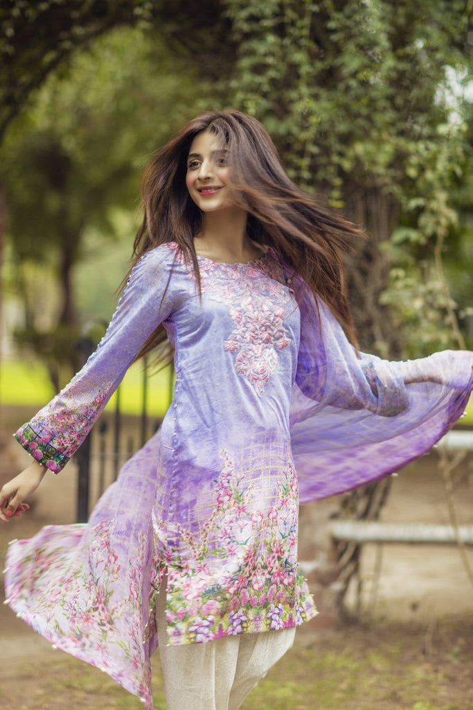 Noor by Saadia Asad - Spring/Summer Lawn Collection – Orchid Oasis