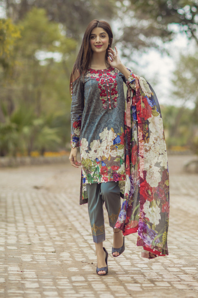 Noor by Saadia Asad - Spring/Summer Lawn Collection – Botanical Mystery