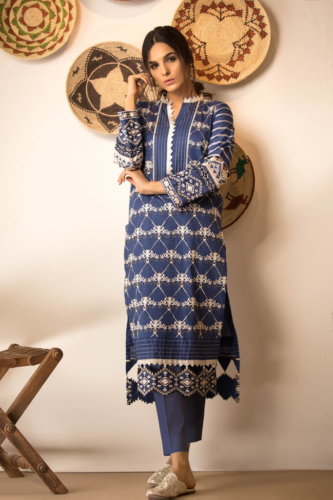 Sapphire Naqsh Dar Lawn Eid Collection Vol-V – Edgy Fit A