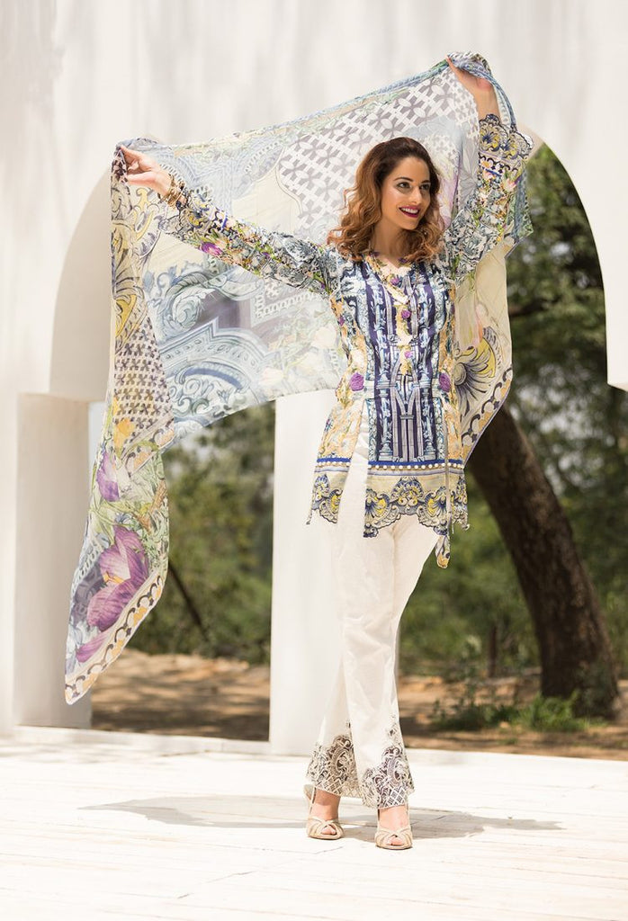 Firdous Eid Exclusive Collection 2017 – EE-02 Indigo Dreams