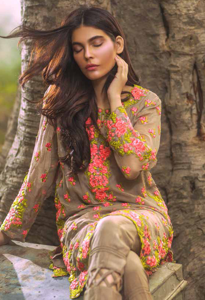Mina Hasan Embroidered Chiffon Collection - 02 - YourLibaas  - 1
