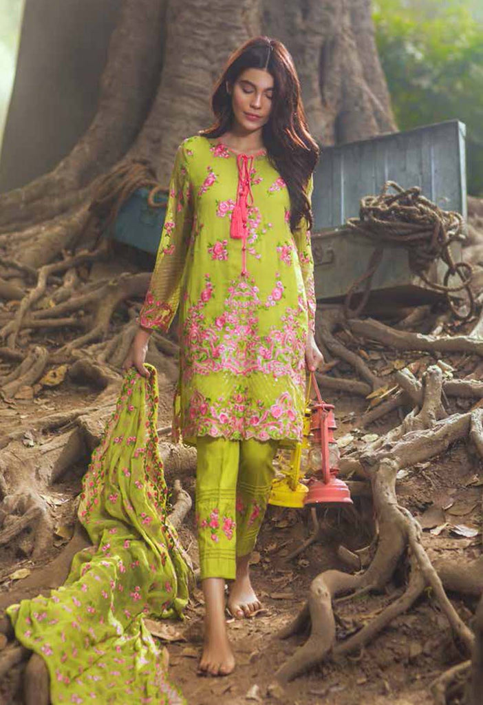 Mina Hasan Embroidered Chiffon Collection - 05 - YourLibaas  - 1