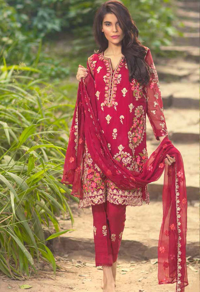Mina Hasan Embroidered Chiffon Collection - 10 - YourLibaas  - 1
