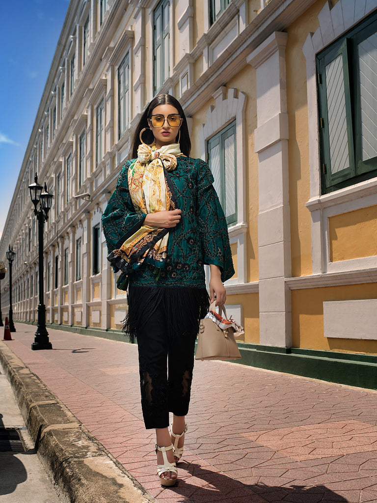 Erum Khan Embroidered Chiffon Collection – Emerald Fantasy