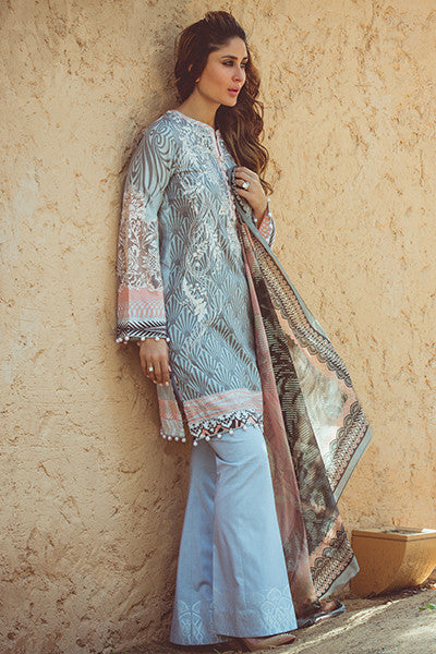 Faraz Manan Crescent Lawn Collection 2016 – FM01 Mystic Moor - YourLibaas  - 1