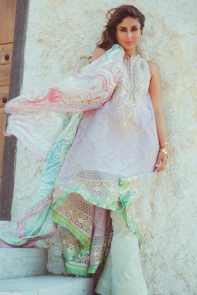 Faraz Manan Crescent Lawn Collection 2016 – FM06 Spell Bound - YourLibaas  - 1