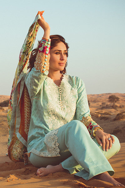 Faraz Manan Crescent Lawn Collection 2016 – FM12 Sky Sweller - YourLibaas  - 1