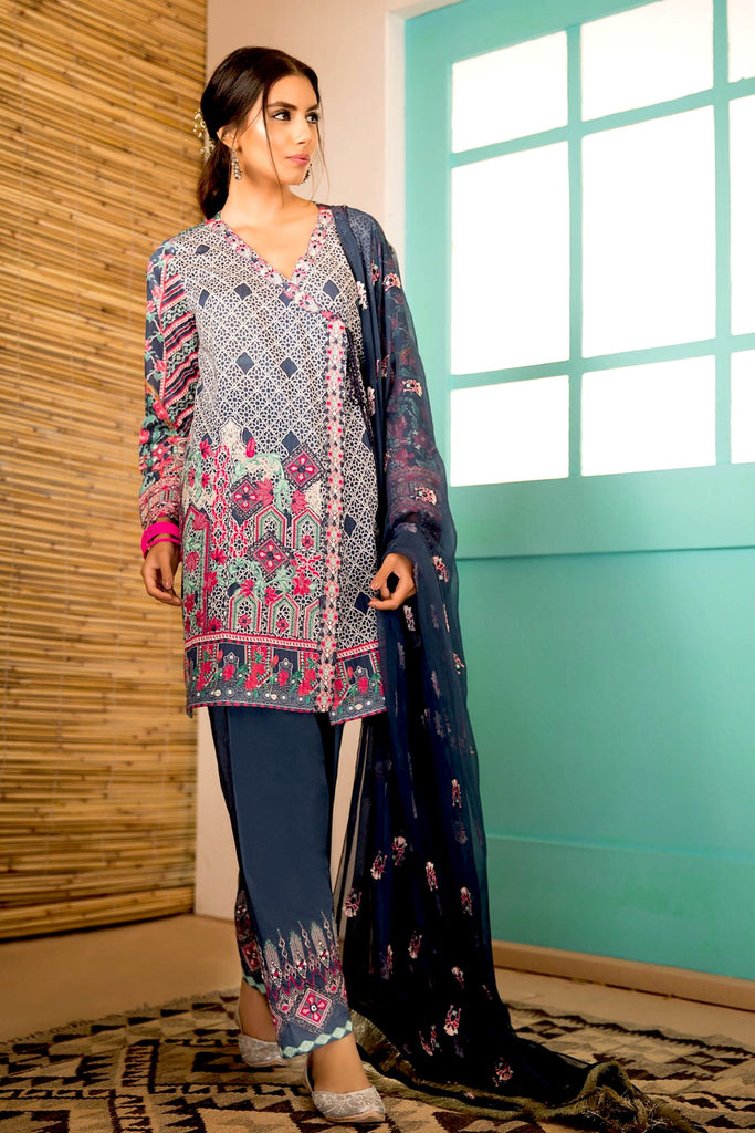 Sapphire Naqsh Dar Lawn Eid Collection Vol-V – Frozen In Time B
