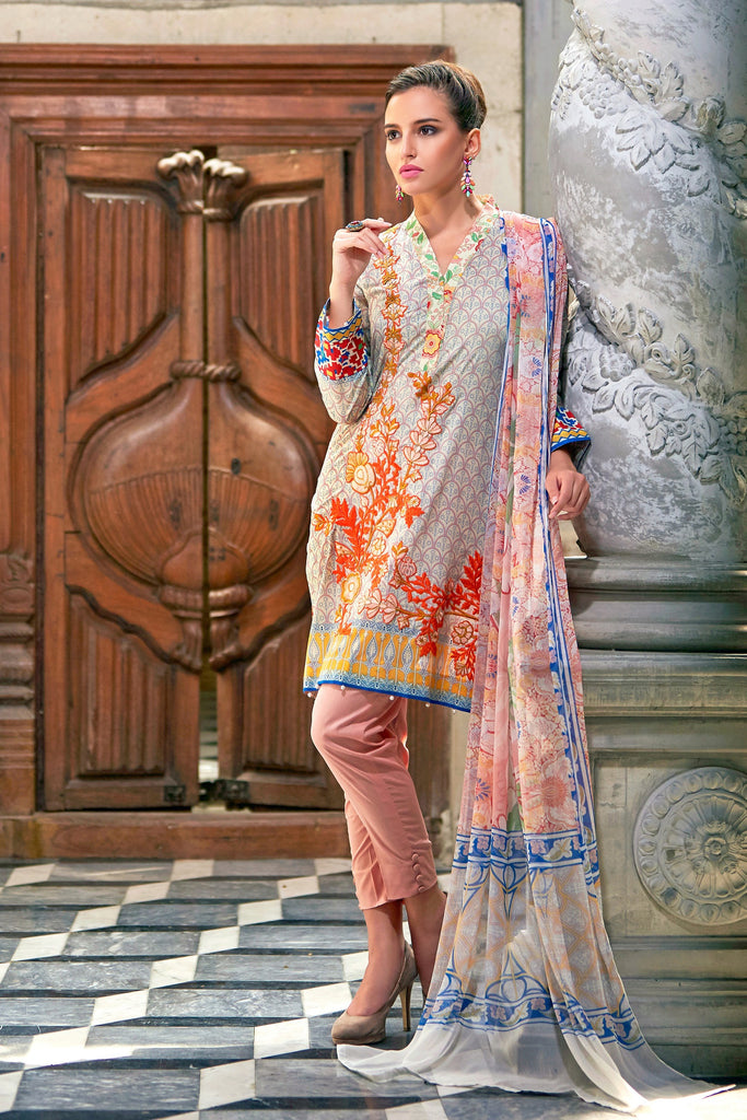 Bashir Ahmad Florence Lawn Collection Vol 1 – FL03A - YourLibaas  - 1