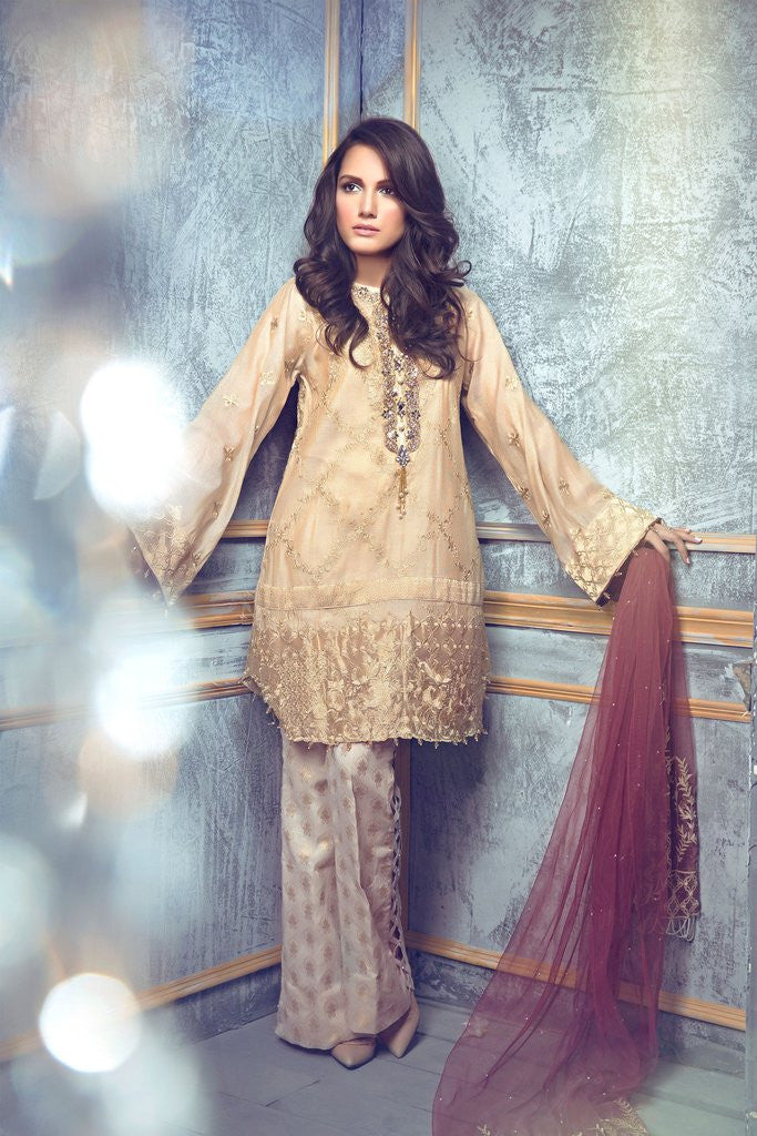254ad31dc1 Rungrez Czarina - Surreal Luster Chiffon & Silk Collection – Gold Rush -  YourLibaas - 1 ...