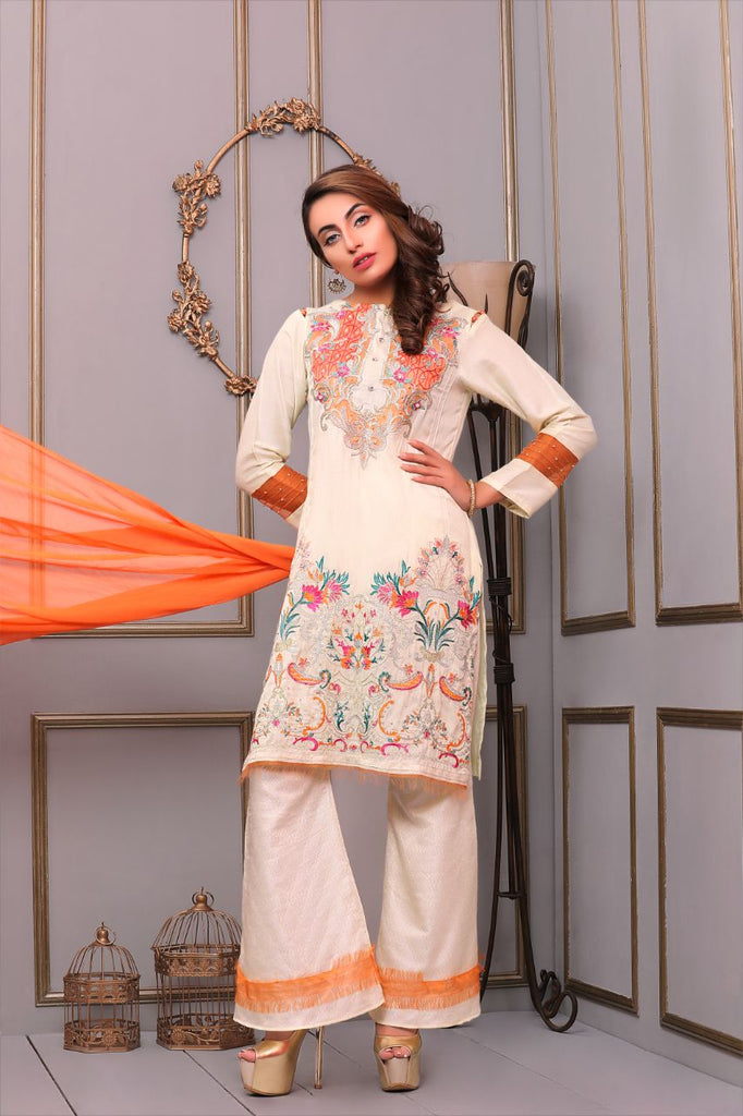 Needlez By Shalimar - Stay Bloom Cotton Net Collection – 002730 B