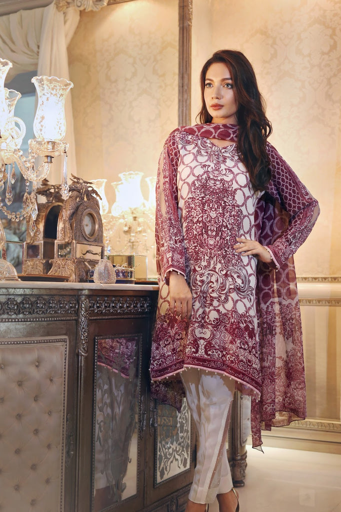 Noor by Saadia Asad Silk Collection - Orchard Bliss - 02