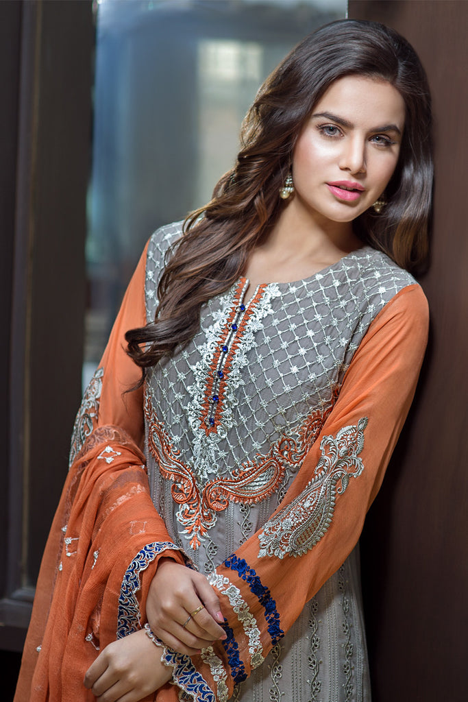 Iznik Luxury Chiffon Collection 2016 – Dove Grey IZK07 - YourLibaas  - 1