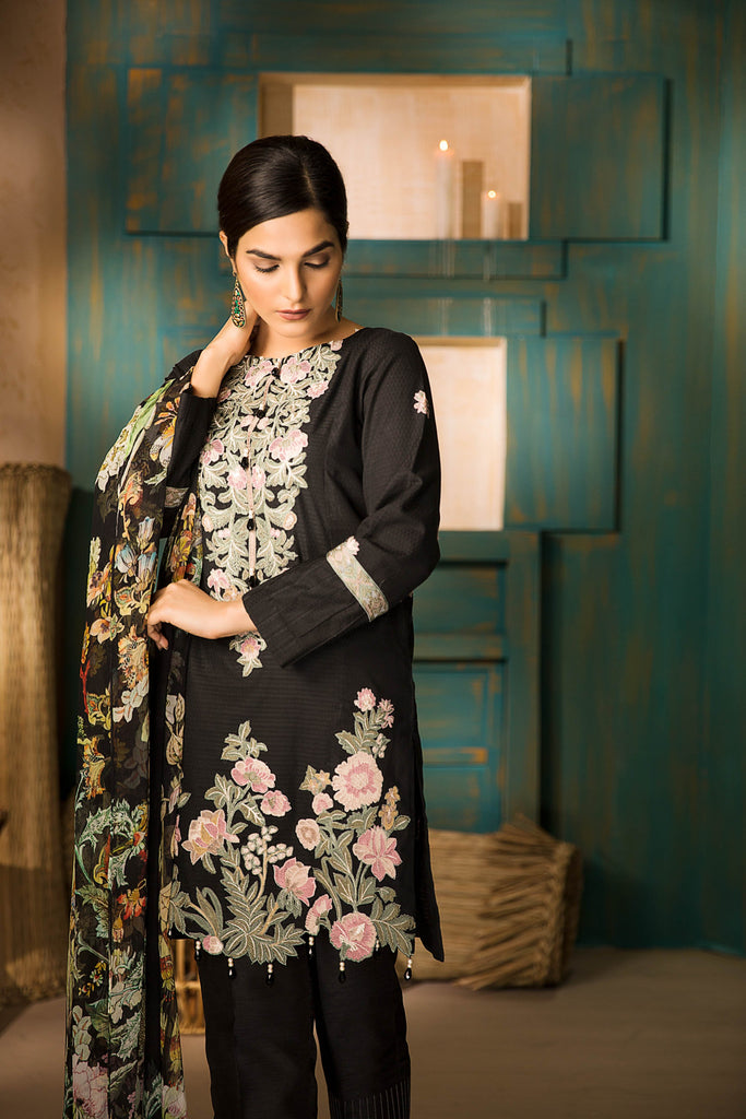 Sapphire Naqsh Dar Lawn Eid Collection Vol-V – Japanese Garden A