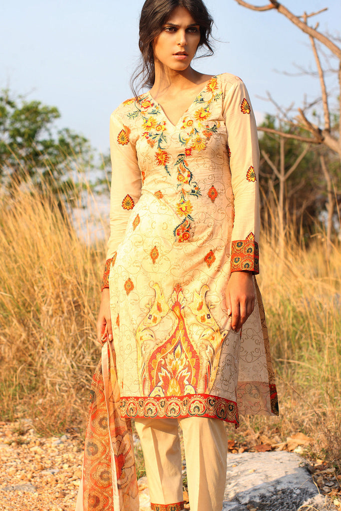 Klakari - The Haute Lawn Collection - Mosaic Magic KK06 - YourLibaas  - 1