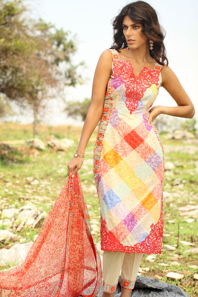 Klakari - The Haute Lawn Collection - Patchwork Passion KK07 - YourLibaas  - 1
