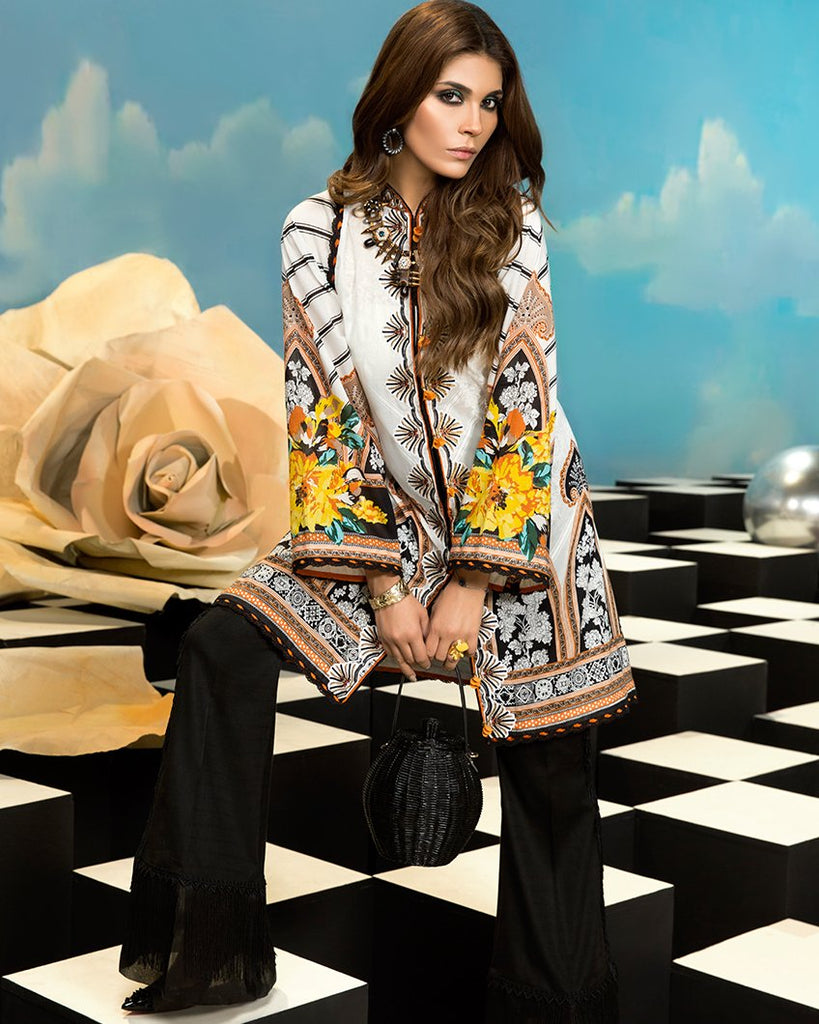 Zaha by Khadijah Shah – 1pc Lawn Collection – Leone (ZL-04A)
