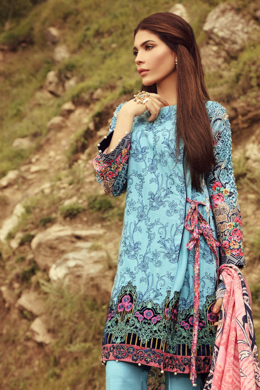 Noor Winter Collection 2017 by Saadia Asad – 01 Luscious Paradise